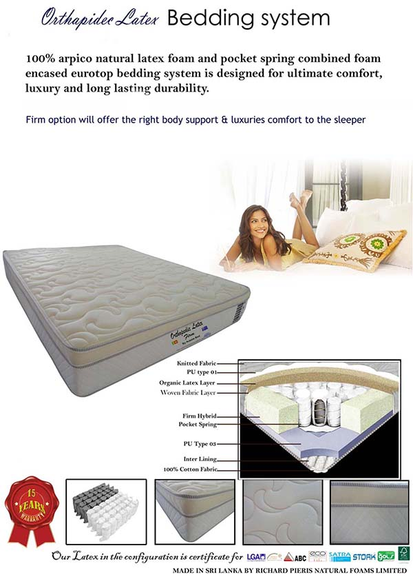 Sri Lanka Natural Latex Mattress Sri Lanka Natural Latex