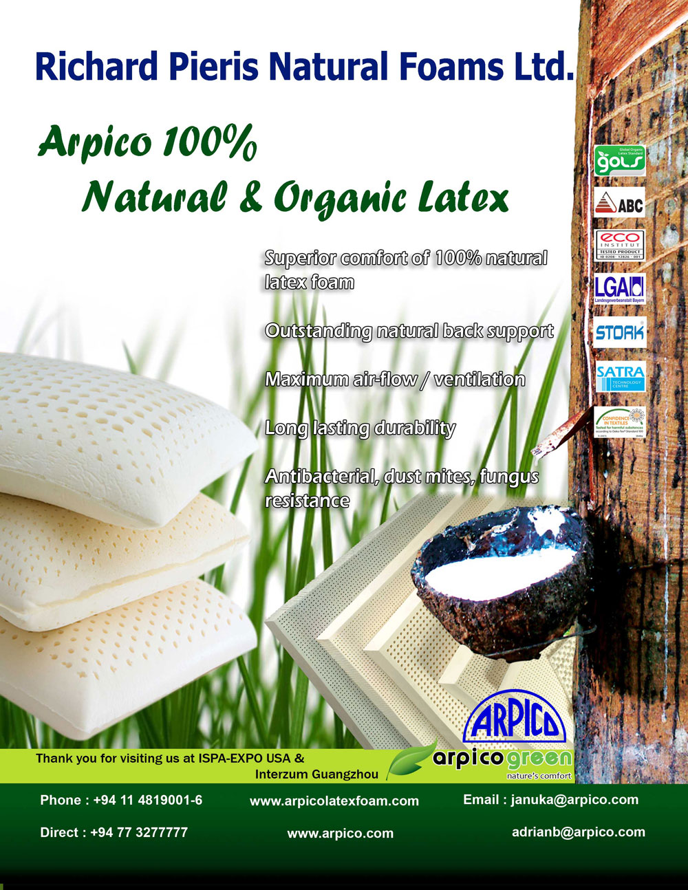 Arpico Latex - latex products manufacturers - Richard ...